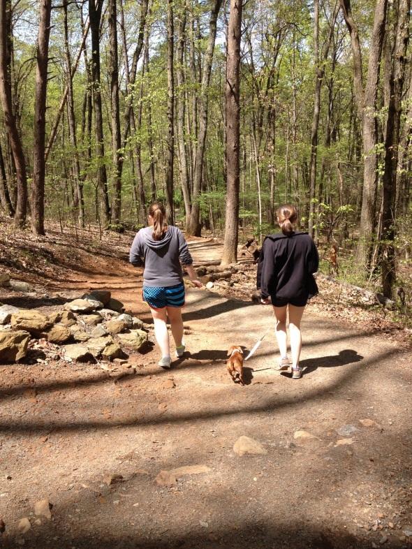 Hiking Kennesaw Mountain.