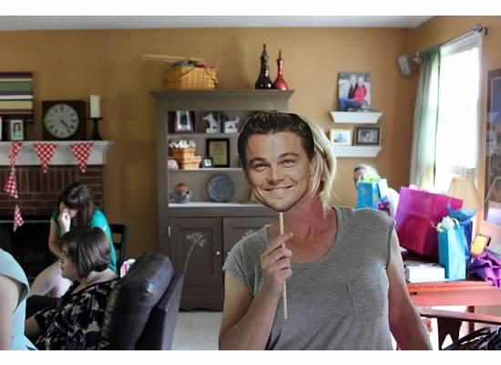 Jordan made me this Leonardo DiCaprio face and I LOVE it.