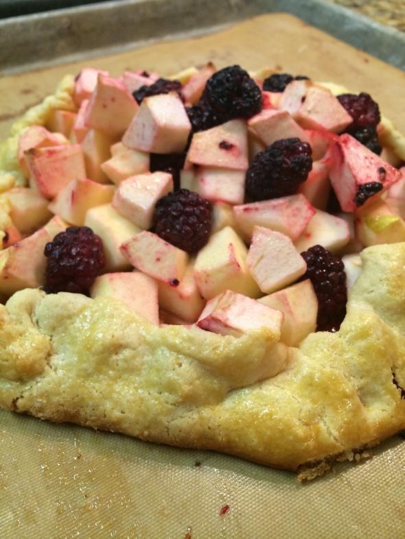 Blackberry and Apple Pie