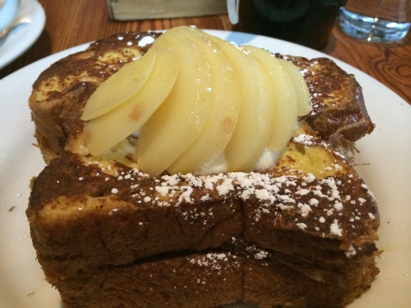 Sweet Pear Ricotta French Toast