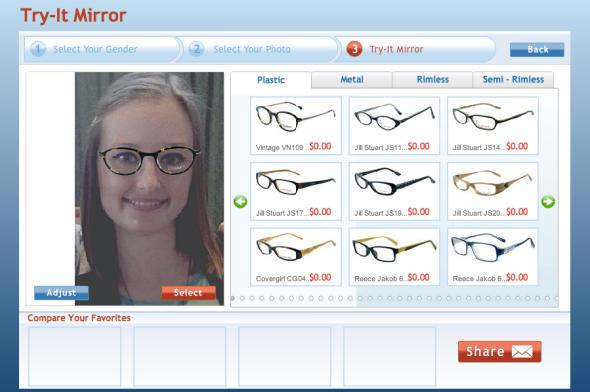 Virtual Mirror Feature