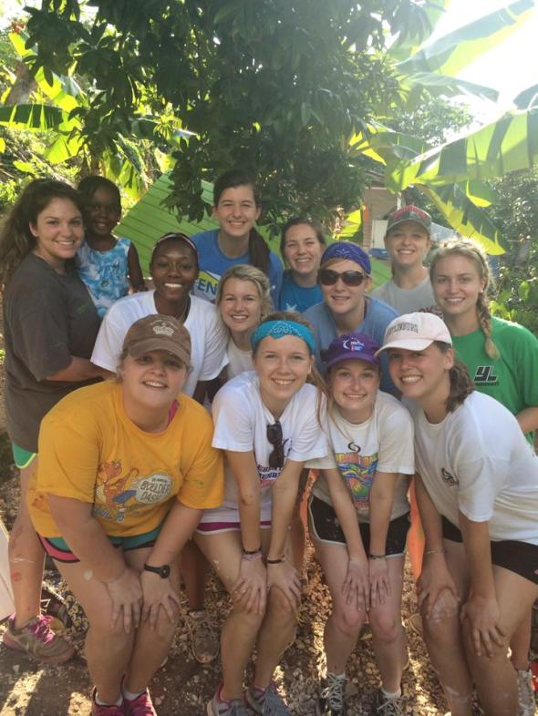 The amazing group of girls I worked with at the Homes of Hope site.