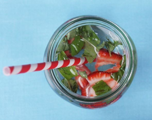 Strawberry and Basil Water