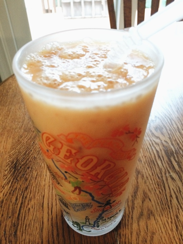 Peach, Orange, + Honey Smoothie