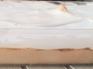 Banana Caramel Pudding with Meringue Topping